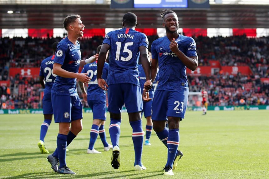 Chelsea in action against Southampton during an English Premier League game at St Mary's Stadium, on Oct 6, 2019.