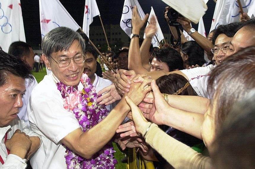 Mr Chiam See Tong won his fifth term as MP in the 2001 General Election. The SPP leader has had little success in grooming proteges.