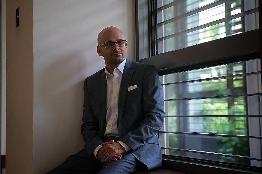 """Professor Daniel Ziblatt of Harvard University remains cautiously optimistic. """"I think democracy is not dead - it's still pretty robust. But in America we are definitely facing a kind of crisis at the moment,"""" he says. ST PHOTO: JASON QUAH"""