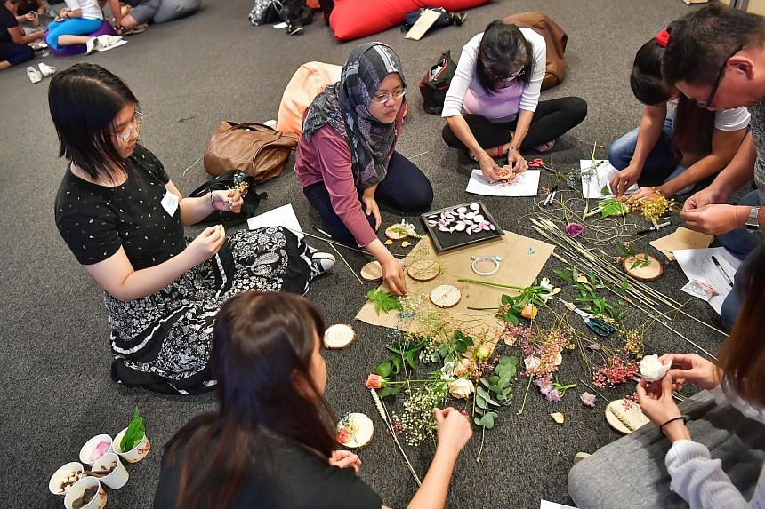 More than 80 people took part in A Day of Hush to promote mental wellness and empathy at the National Volunteer and Philanthropy Centre yesterday. At the event, hosted by A Good Space, they participated in activities such as sign language games and s