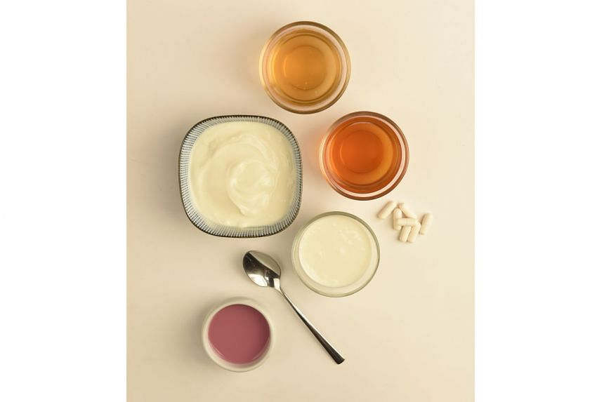 Kombucha, kefir, yogurt and probiotics (above) have found a following among those looking to improve their gut health.