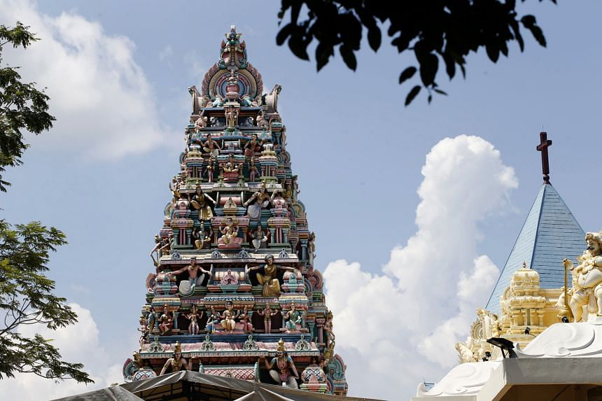 Different places of worship situated close together – like this Hindu temple beside a church – are a common sight in Singapore, which a 2014 Pew Research Centre study says is the most religiously diverse nation. In such an environment, interfaith