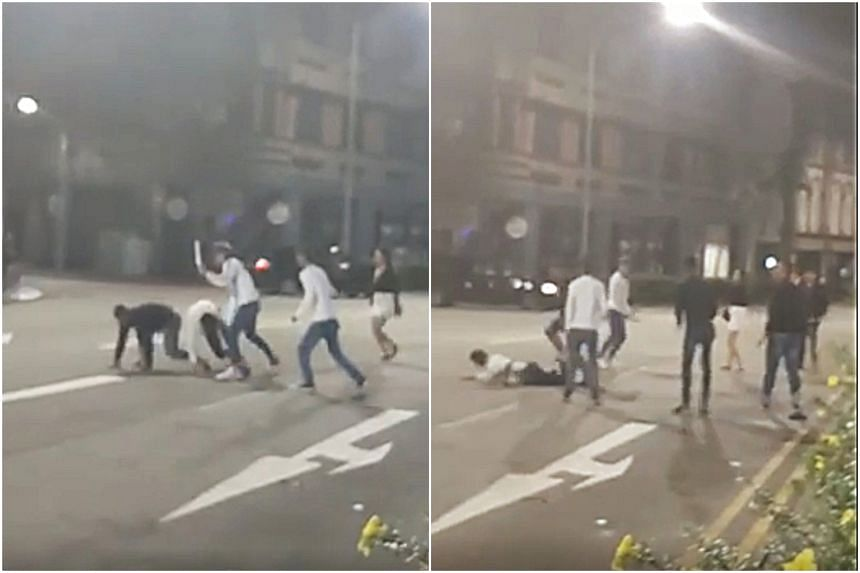 A 46-second video of the fight, which happened at 3am on Oct 18, was circulated on Facebook.