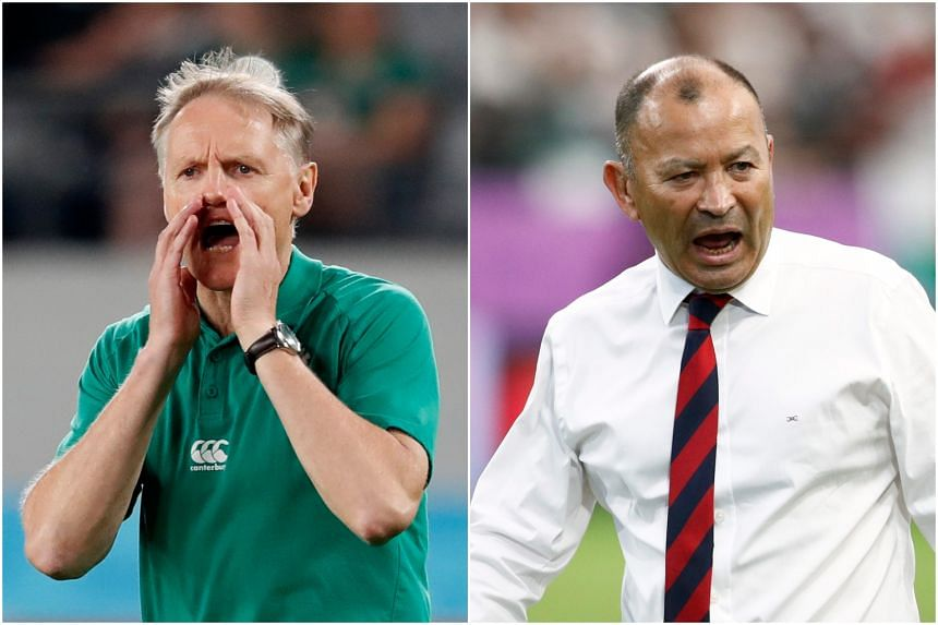 Ireland's Joe Schmidt (left) and England coach Eddie Jones (right) are being suggested for new Wallabies coach, alongside Glasgow Warriors coach Dave Rennie.