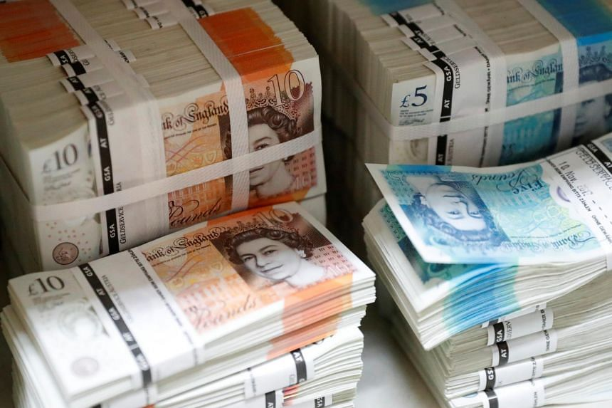 The pound fell as much as 0.8 per cent against the US dollar, ending a four-day winning streak.