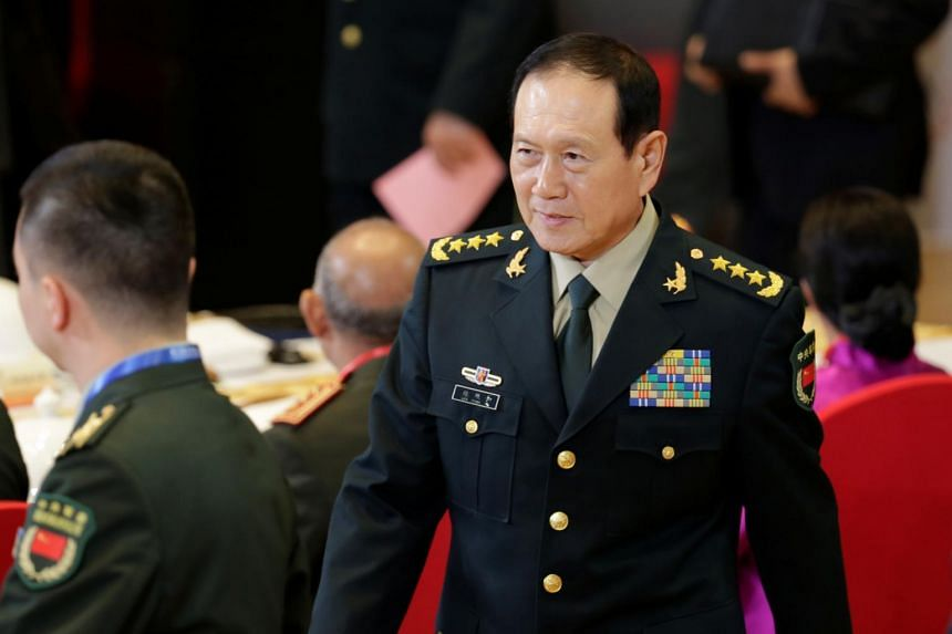 China's Defence Minister Wei Fenghe at the opening of the Xiangshan Forum in Beijing, China, on Oct 20, 2019. He said that separatist activities are doomed to failure.