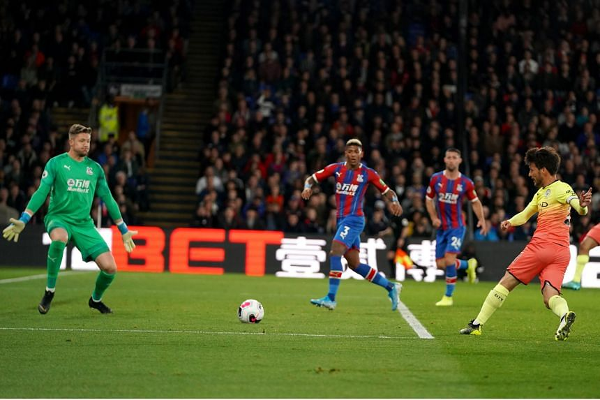 Man City's David Silva scoring his side's second goal in their 2-0 win at Crystal Palace. The visitors had 21 shots, including 10 on target, but their failure to convert more of those chances is a concern for manager Pep Guardiola.