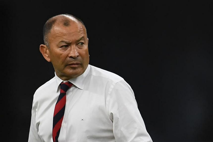 England's head coach Eddie Jones attends a warm-up session before the Japan 2019 Rugby World Cup quarter-final match between England and Australia on Oct 19, 2019.