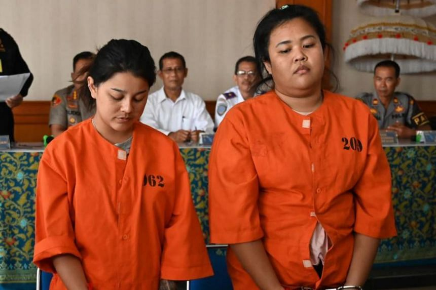 Thai nationals Kasarin Khamkhao (left) and Sanicha Maneetes arrived last week on a flight from Bangkok, where airport officials found nearly a kilogramme of methamphetamine hidden under their clothes, authorities said.