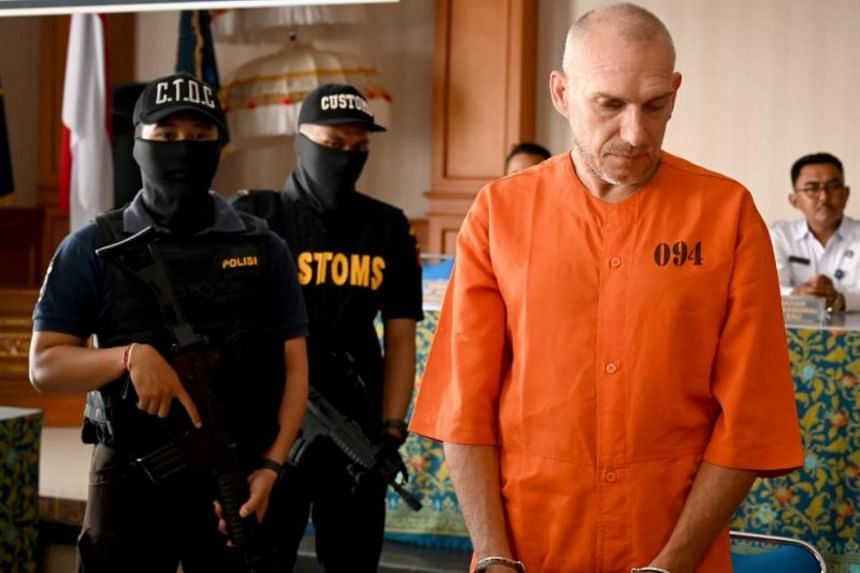 Frenchman Olivier Jover was arrested in Bali after a package sent from his home country containing some 22.5g of meth arrived at the airport with his address on it.