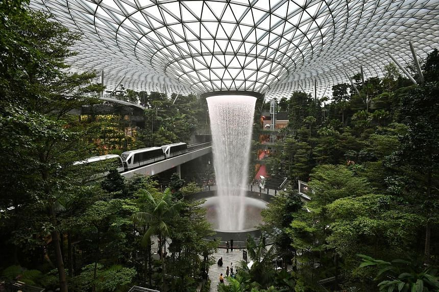 "Jewel Changi's iconic rain vortex attracts huge crowds seeking ""Instagrammable moments"", says real estate consultancy Edmund Tie."