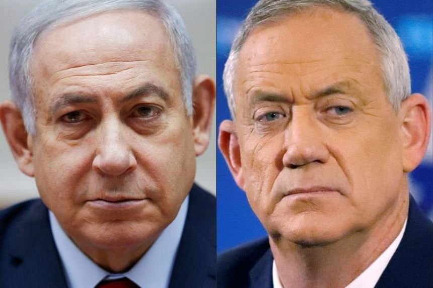 Israeli Prime Minister Benjamin Netanyahu (left) informed the country's president on Oct 21, 2019 he could not form a new government following deadlocked September elections, making way for his opponent Benny Gantz (right) to try.