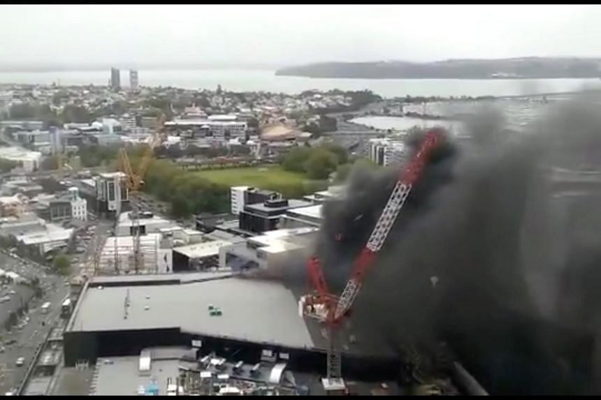 The fire, which broke out at the SkyCity Convention Centre, is close to the iconic Sky City tower in downtown Auckland.