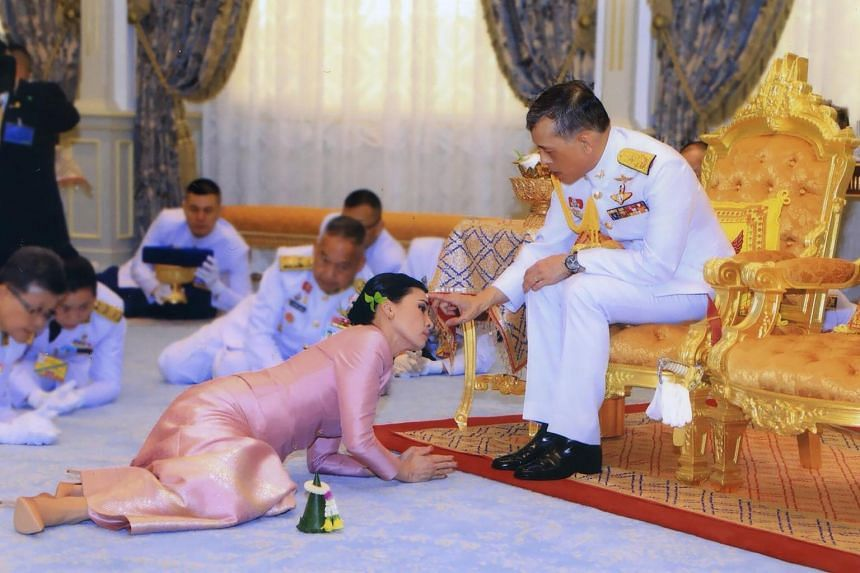 The wedding ceremony of Thailand's King Maha Vajiralongkorn and Queen Suthida, on May 1, 2019.