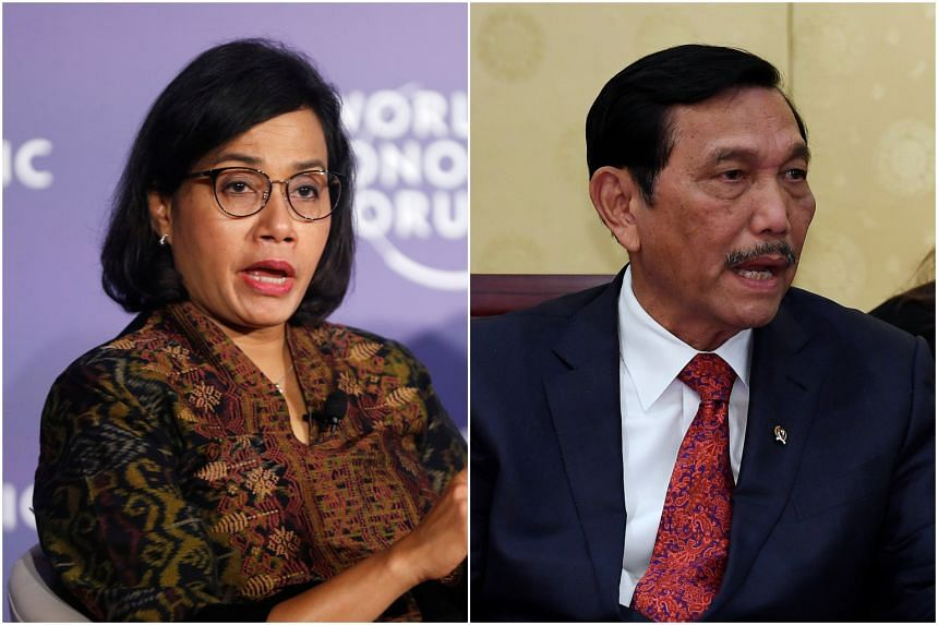 Dr Sri Mulyani Indrawati will keep her old post as Finance Minister while Mr Luhut Pandjaitan will continue as coordinating maritime affairs minister but with the added responsibility to oversee investments in the country.