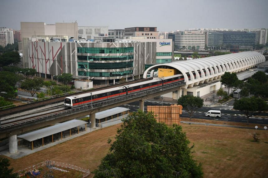 A train is seen pulling out of Tampines MRT station on Sept 10, 2019. A panel of experts have said that cyber-security threats to rail operations are a pressing issue that will get more serious.