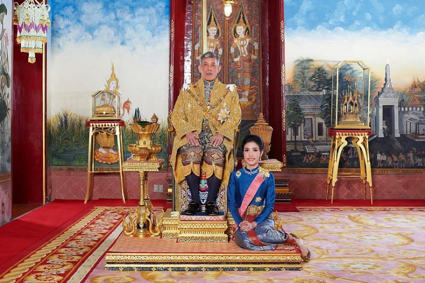 """Former royal bodyguard and army nurse Sineenat Wongvajirapakdi was dismissed from the rank of Chao Khun Phra, or noble consort, and accused of """"disloyalty to the king""""."""