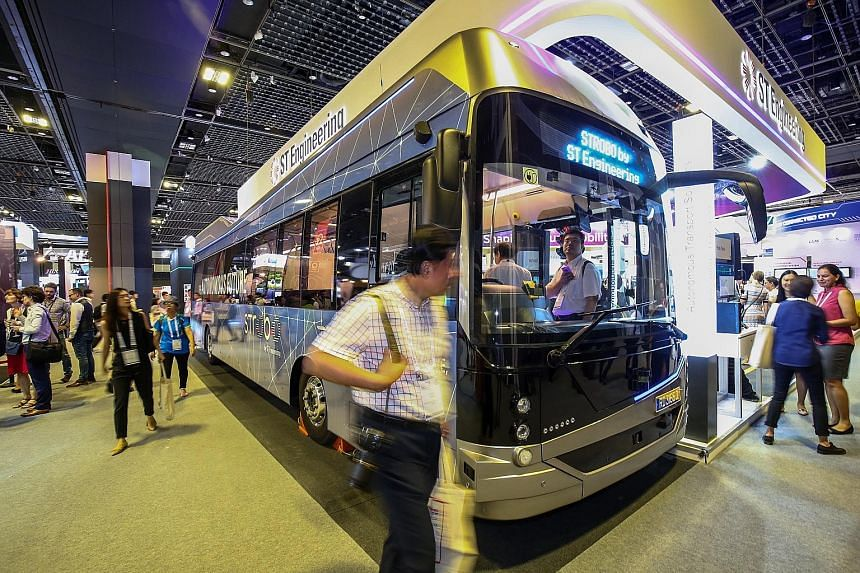 The Strobo Series 12 bus will go on public trial on Jurong Island around June next year. The bus can carry up to 80 passengers and will initially travel at a speed of about 20kmh during the trial.