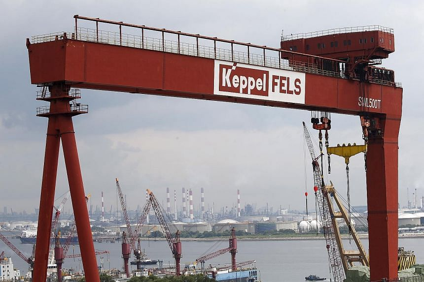 A Keppel Corp shipyard in Singapore. Temasek plans to offer Keppel shareholders $7.35 per share, in cash, to buy 554.9 million shares or 30.55 per cent of Keppel.