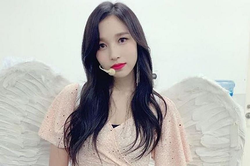 Mina's agency said the Twice singer is taking a break from promotional activities as she is suffering from anxiety attacks.