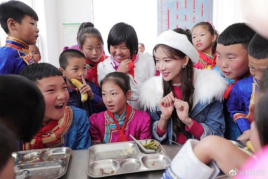 """STAR WITH A HEART OF GOLD: A beautiful person with a beautiful heart. That is how the Chinese media described Taiwanese actress-model Chiling Lin after she wrote on Weibo of her recent visit to a children's home in China yesterday. Lin, 44, wrote, """"I"""