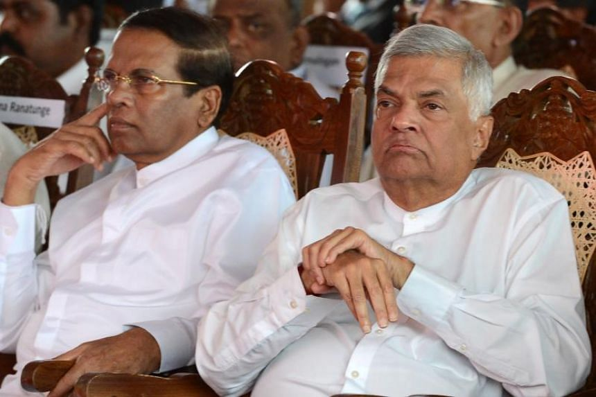 A cross-party committee which probed alleged intelligence lapses related to the suicide bombings during Easter in Sri Lanka said President Maithripala Sirisena (left) had not given proper guidance or support to the country's security establishment an