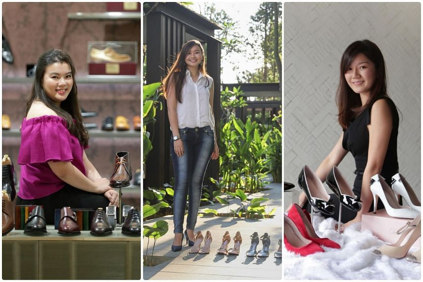 (From left) Teresa Chong, Cherre Hermogena and Clara Han are young women entrepreneurs who have launched their own footwear labels and are putting the craft back into shoemaking with their unique touches.