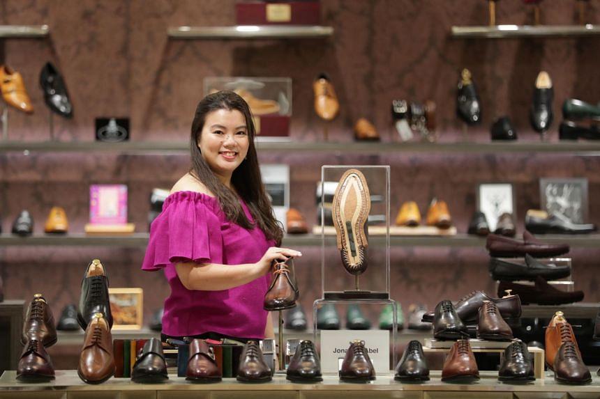Teresa Chong, 33, founder of Jonanthan Abel, at her store in Takashimaya.