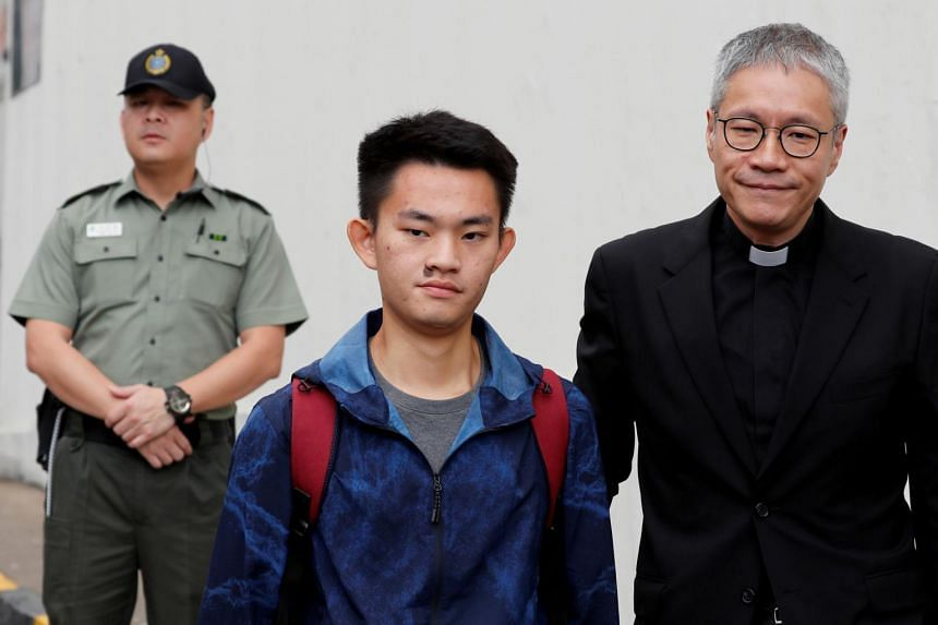 Chan Tong-kai leaves Pik Uk Prison, in Hong Kong, on Oct 23, 2019.