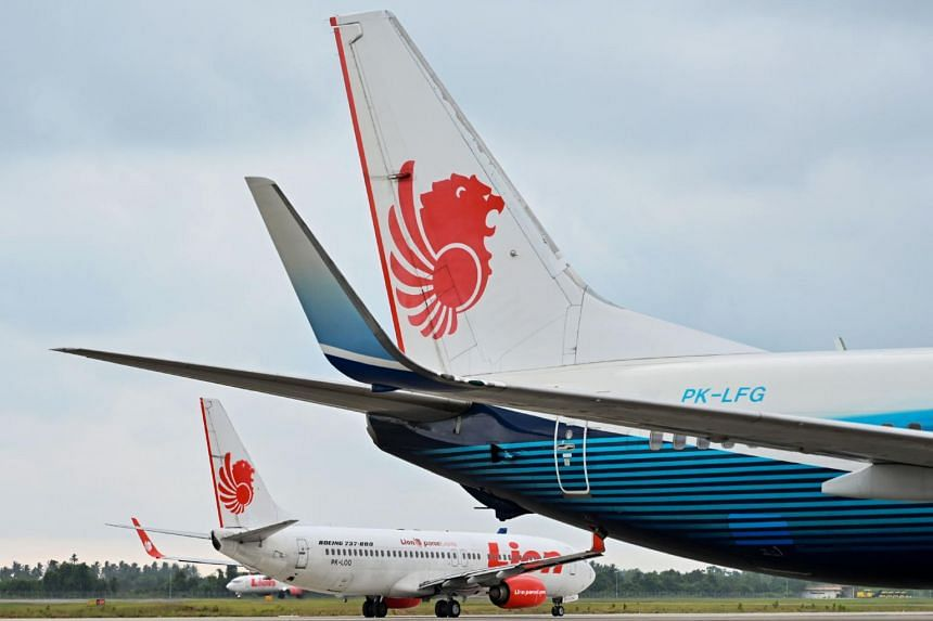 In this photo taken on Sept 3, 2019, a Lion Air Boeing 737-800 aircraft is seen at the airport in Padang, West Sumatra.