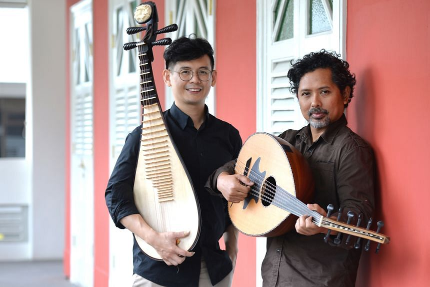 Pipa player Chua Yew Kok and gambus musician Azrin Abdullah will present eight pieces at Sunday's DY-Logue concert, including Of Passion & Expression, which Azrin originally wrote for the gambus and percussion.