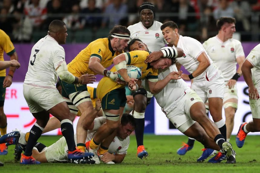 England and Australia face off in the quarter-finala of the Rugby World Cup in Japan on Oct 19, 2019.