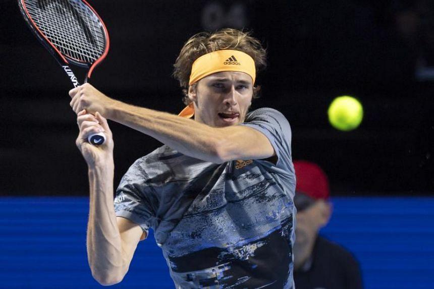 Zverev won the season-ending tournament last November, beating Roger Federer and Novak Djokovic back-to-back.