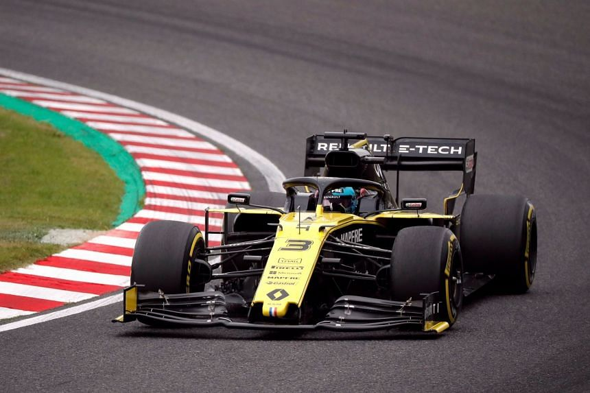 Renault's Daniel Ricciardo in action during practice for the Japanese grand prix.