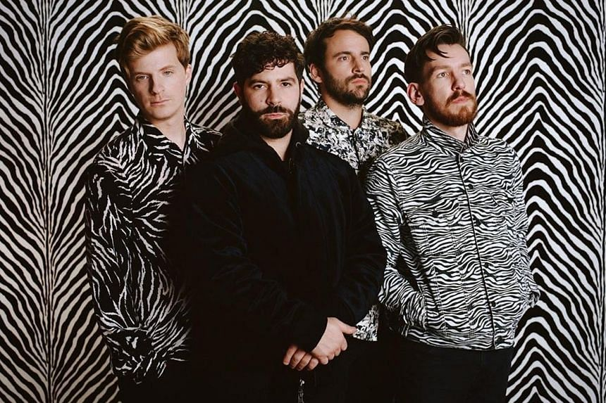 No Home Record is the first solo album by Kim Gordon. British band Foals comprise (from far left) Jack Bevan, Yannis Philippakis, Jimmy Smith and Edwin Congreave.