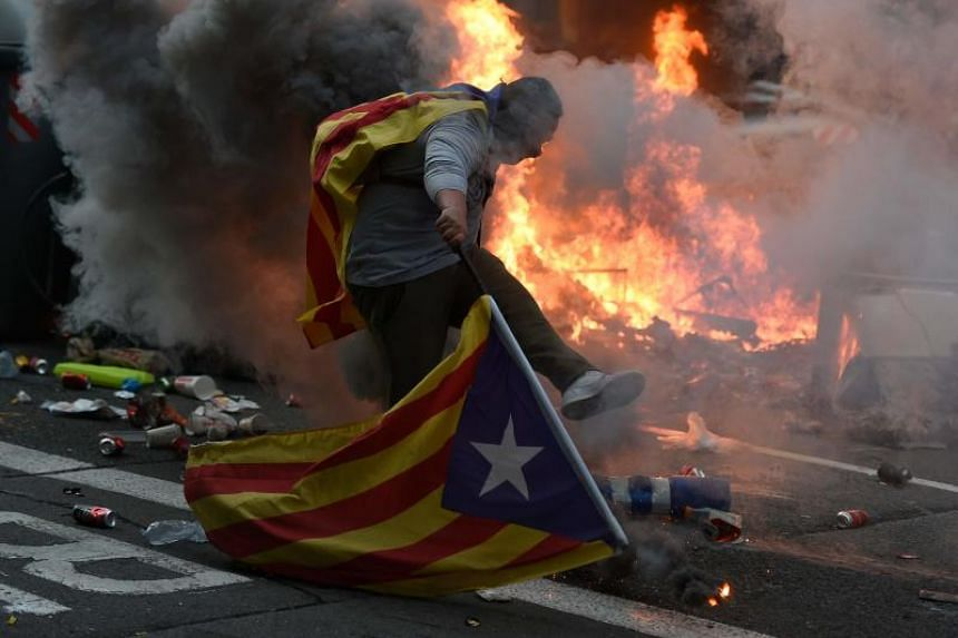 The protests in Catalonia bear some resemblance to the demonstrations in Hong Kong.