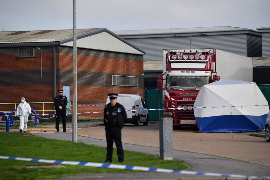 The dozens of corpses were found in the early hours of Wednesday in a refrigerated truck container at an industrial park in Grays, east of London, triggering shock and outrage in Britain.