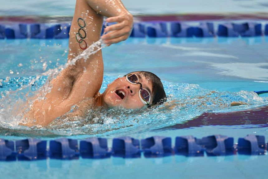 Joseph Schooling during a training session in September. Schooling on Oct 24 won the 100m freestyle title at the Hancock Prospecting Short Course Championships in 48.05sec.