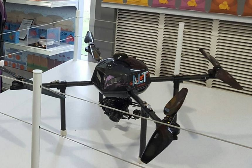 A drone by AeroLion Technologies. Logistics company YCH Group has joined hands with unmanned aerial vehicle firm AeroLion Technologies to expand the use of drones in warehouses in the region.