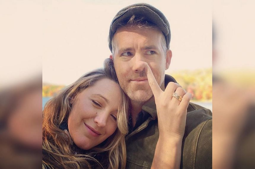"""Blake Lively posted on her Instagram a photo of her picking her husband Ryan Reynolds' nose with the caption, """"I picked a good one. Happy birthday @vancityreynolds""""."""