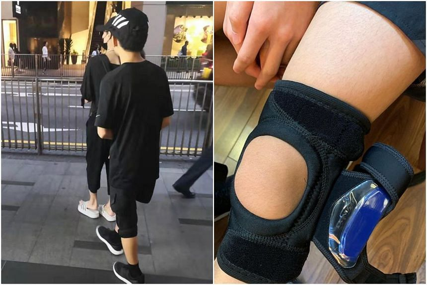 While Lucas, Cecilia Cheung's son with her former husband Nicholas Tse, did not suffer serious injuries to his leg, the doctor has advised him to wear a knee brace for at least six weeks.