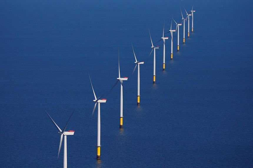 The Walney Extension offshore wind farm off Blackpool, Britain, on Sept 5, 2018. Power generated from wind turbines at sea accounts for only 0.3 per cent of global electricity generation today.