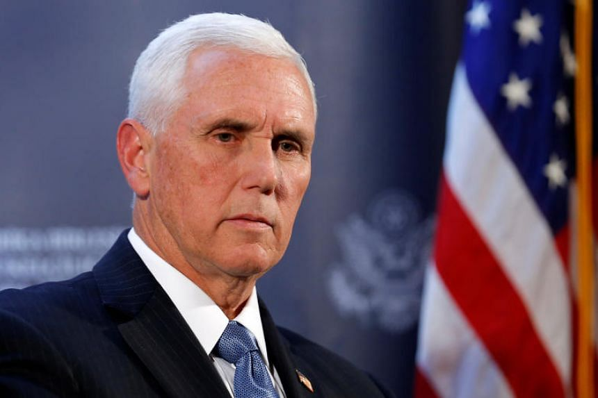 US Vice-President Mike Pence attends a news conference at the US Embassy in Ankara, Turkey, on Oct 17, 2019.