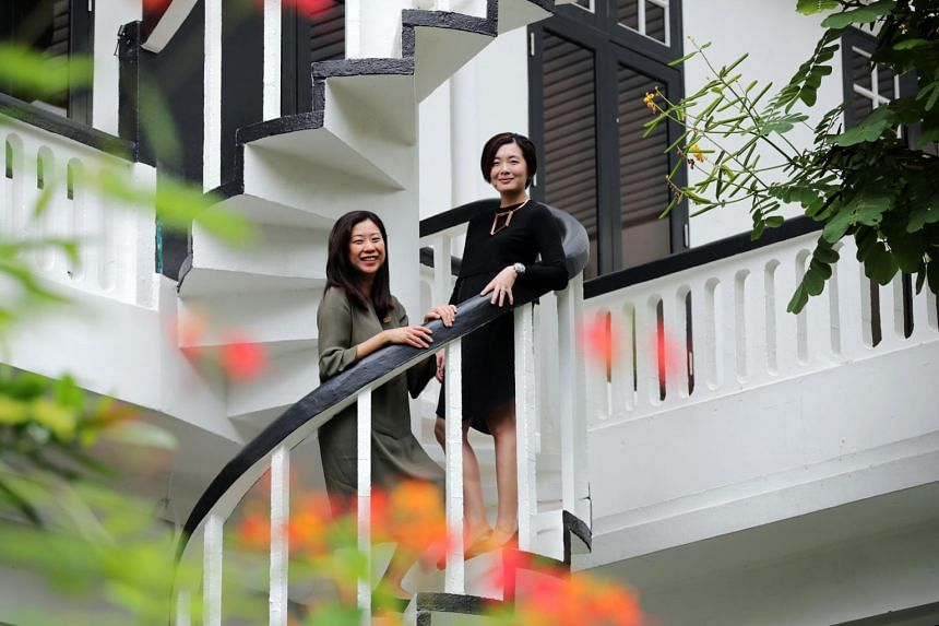 Director of Temasek Shophouse Yvonne Tay (left) and lead architect Ivy Koh at Temasek Shophouse.