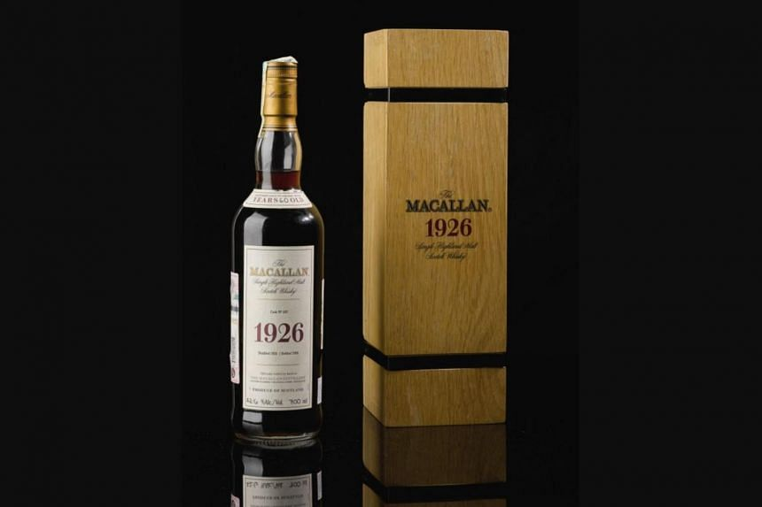 The Macallan 1926 60-year-old single malt from cask number 263 had been expected to sell for up to £450,000, but went under the hammer for £1.45 million on Oct 24, 2019.