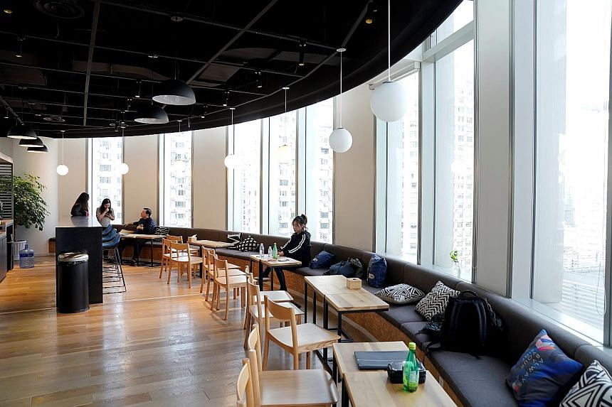 A Ucommune co-working space in Shanghai. The Beijing-based company was valued at US$2.6 billion about a year ago. Its decision to explore a listing has surprised investment bankers, given the similarities between its business and that of embattled US