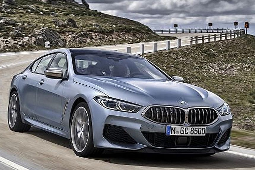 BMW's new 8-series Gran Coupe zooms into town.