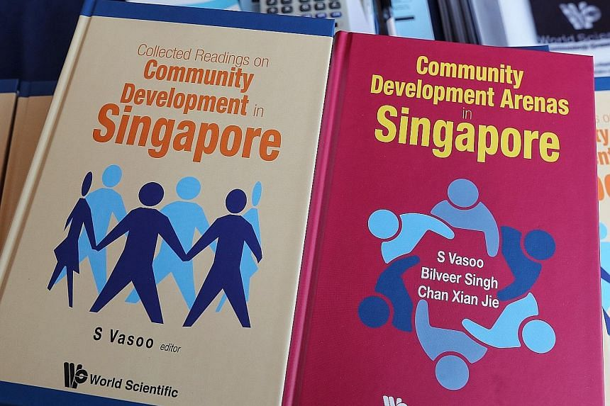 The books on community development in Singapore present two different scenarios of where the country could be headed.
