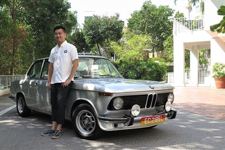 Mr Louis Soon considers his 1973 BMW 2002 a worthwhile investment.