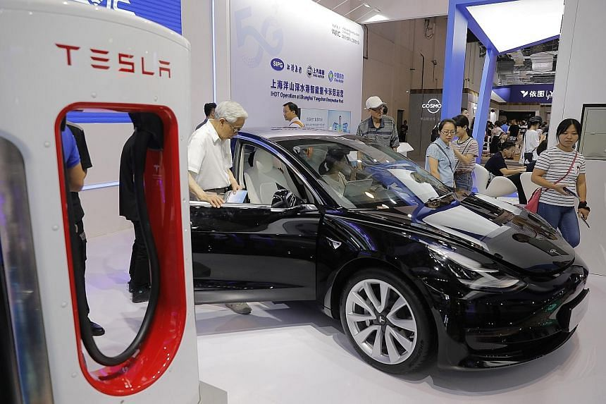 Tesla's Model 3 with autopilot is priced from 355,800 yuan (S$68,600), making it the US company's cheapest model on sale in China.